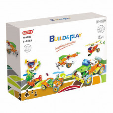 Конструктор Build&Play 5 в 1 Транспорт 164 эл. (J-7741)