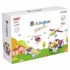 Конструктор Build&Play 4 в 1 Гонки 100 эл. (J-7743)