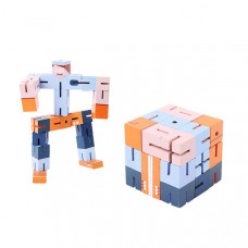 Дерев'яна головоломка РобоКуб (CubeBot) Синий